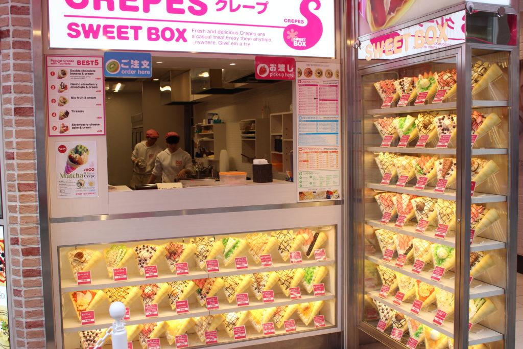 Crêpes shop Takeshita Dori