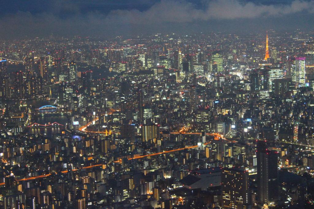 vista dalla Skytree Tokyo Tower a Sumida