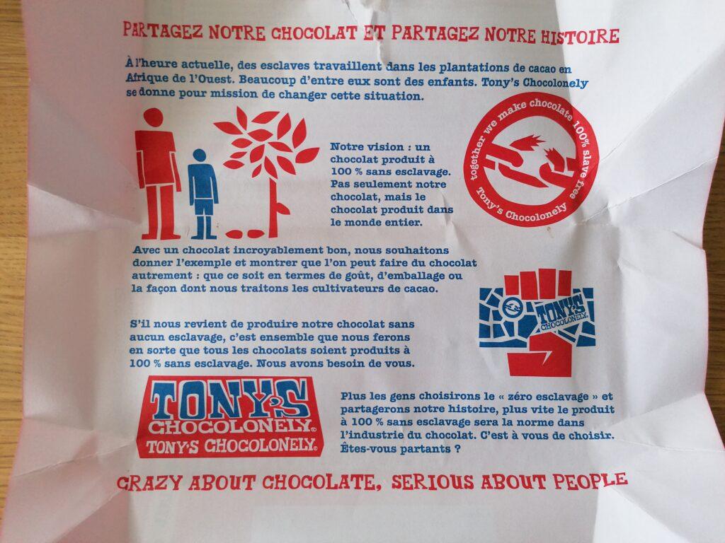 la cioccolata Tony's la storia