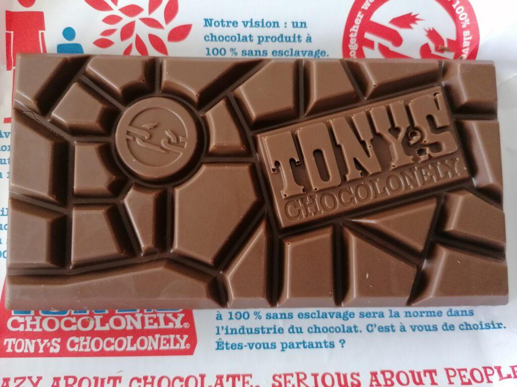 la cioccolata Tony's la tavoletta