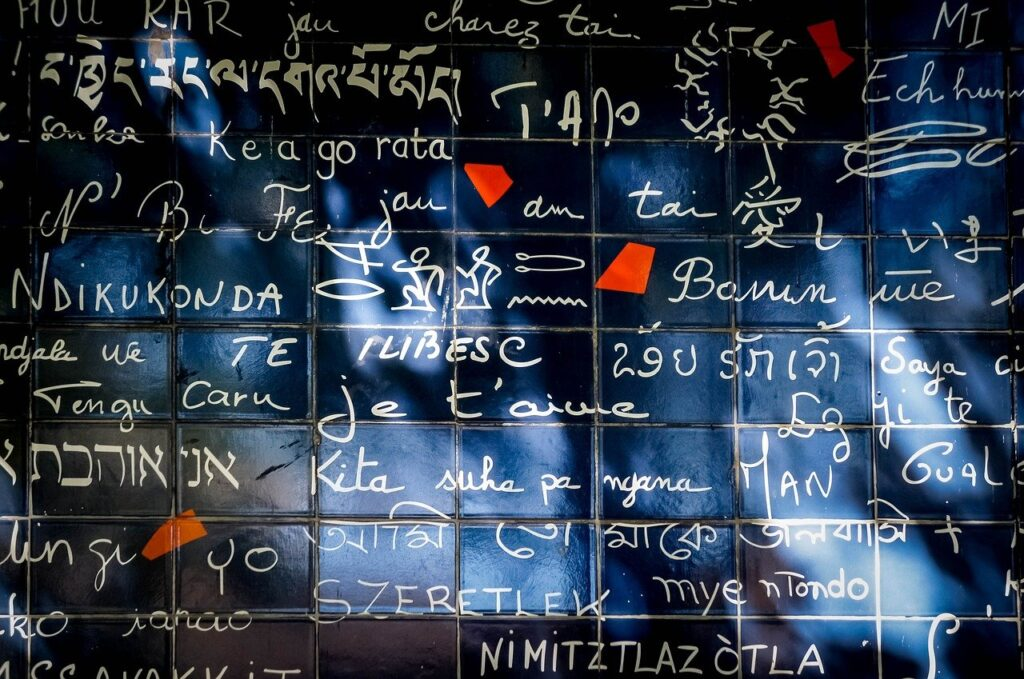 Il muro dei je t'aime san valentino a parigi